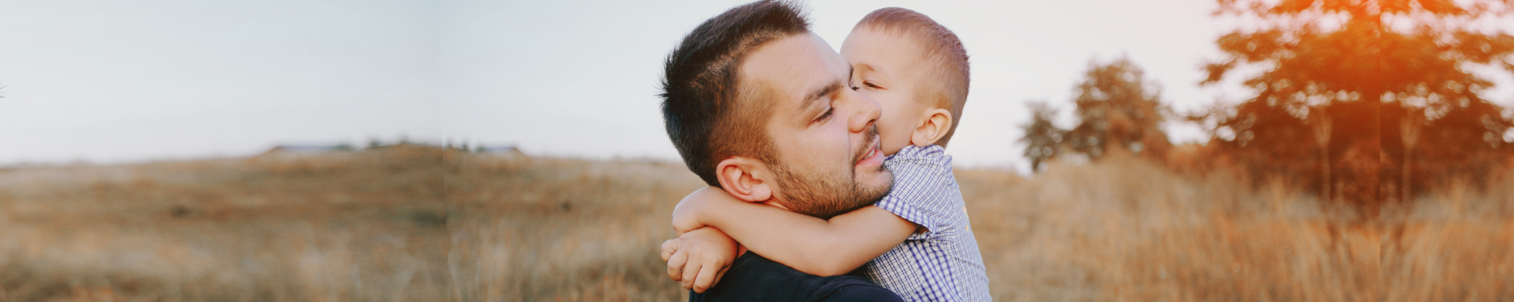 Boy with Father Life and Disability Coverage