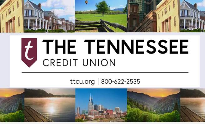 TTCU Ad on Tennessee Crossroads TV broadcast