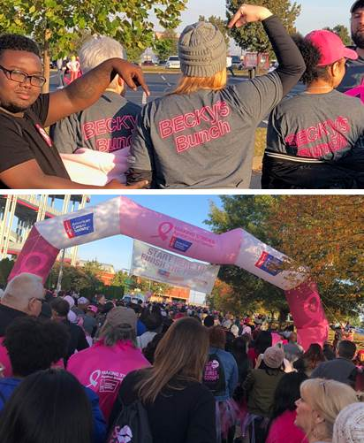 Team TTCU at the American Cancer Society Walk to prevent breast cancer in Nashville