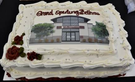 Grand Opening cake with branch image