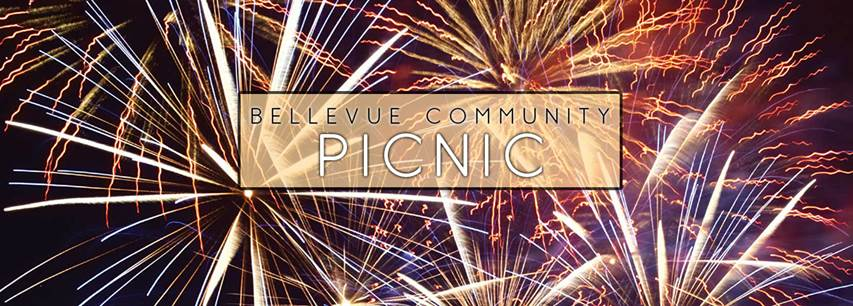 Bellevue Community Picnic image with fireworks